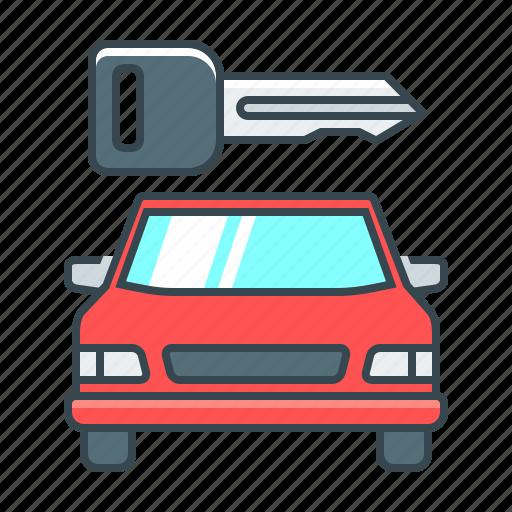 auto, automobile, car, car rental, key, rental, transport icon