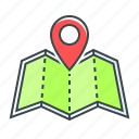 gps, location, map, map location, marker, navigation, travel icon