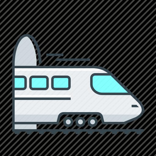 railroad, railroad trip, train, travel icon