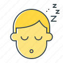 dream, recreation, relaxation, rest, sleep, slumber icon