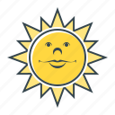 good, good weather, heat, summer, sun, sunny, weather icon