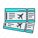 airplane tickets, tickets, travel icon