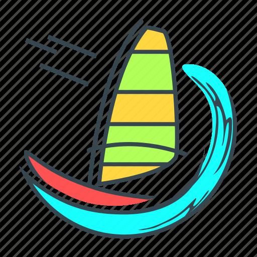 extreme, extreme recreation, recreation, sport, windsurfing icon