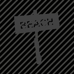 beach, ocean, path, sand, summer, travel, water icon