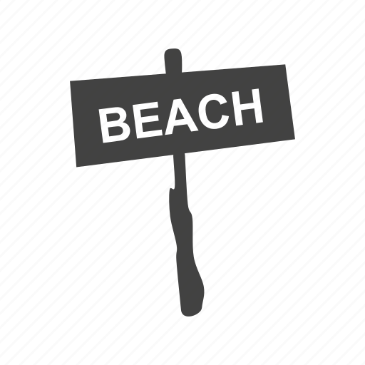 beach, ocean, path, sand, summer, travel, water icon