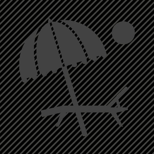 beach, sand, sky, summer, sun, travel, umbrella icon