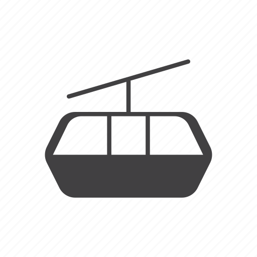 aerial lift, cableway, chairlift, ropeway icon