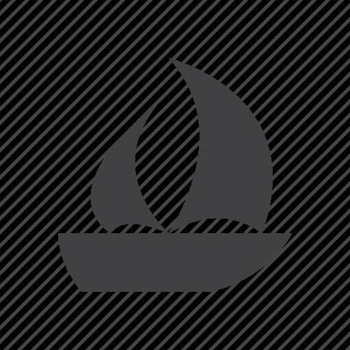 boat, sailboat, sailing, travel icon