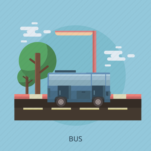 bus, cloud, study tour, tour, transportation, travel icon