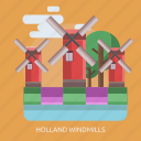 cloud, holland windmills, tree icon