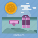 cloud, snorkeling, sun, water icon