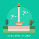 cloud, holiday, the national monument, tree icon