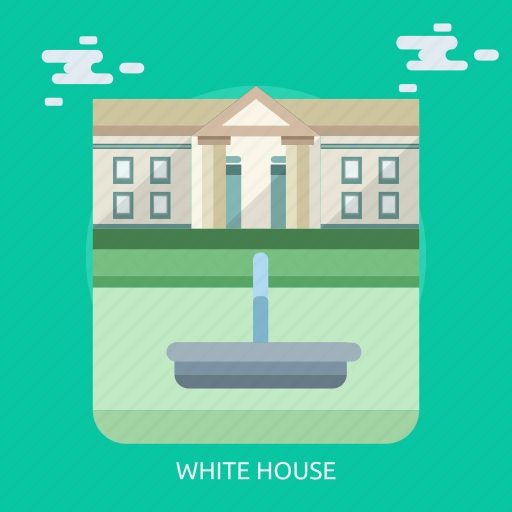 cloud, monument, white house icon