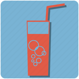 beverage, cold, drink, fresh, glass, holidays, refresment, relax, soda drink, straw, sugar, summer, tasty, treat, vacation icon