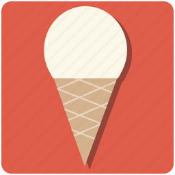 cold, cone, cream, dessert, food, ice, icecream, orange, scoop, sugar, summer, tasty, treat, vacation, vanilla, yummy icon
