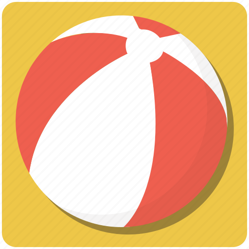 ball, beach ball, bouncy, bright, fun, game, holidays, inflatable, kids toy, plastic, play, red, round, rubber, sphere, sport, summer, vacation icon