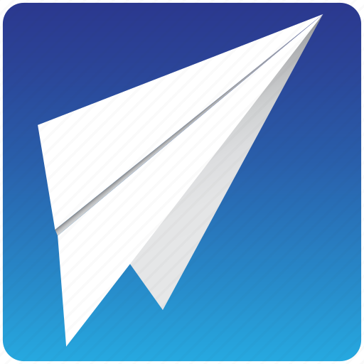 aeroplane, air, aviaion, departure, fold, landing, mail, message, office, origami, paper, pilot, travel, vacation, website, wind icon