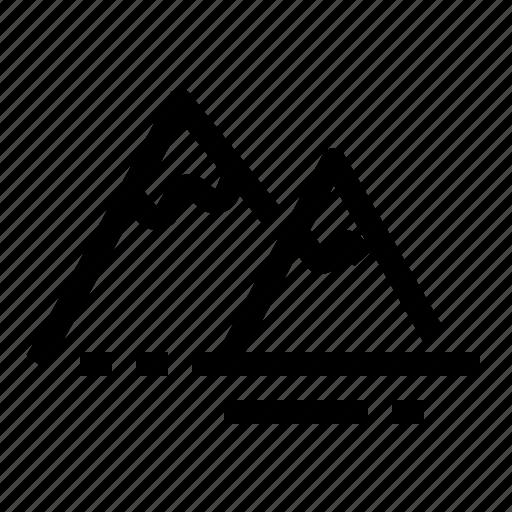 alpinism, environment, mountains, nature icon