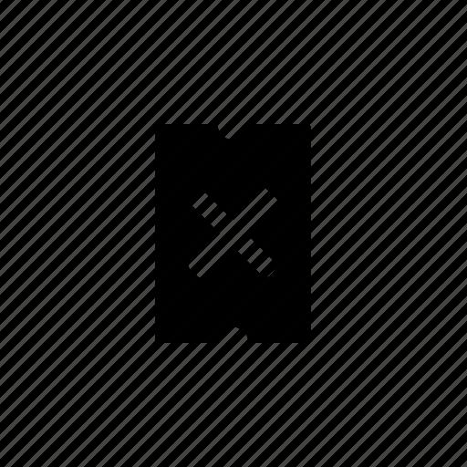 cross, delete, option, remove, ticket, travel icon