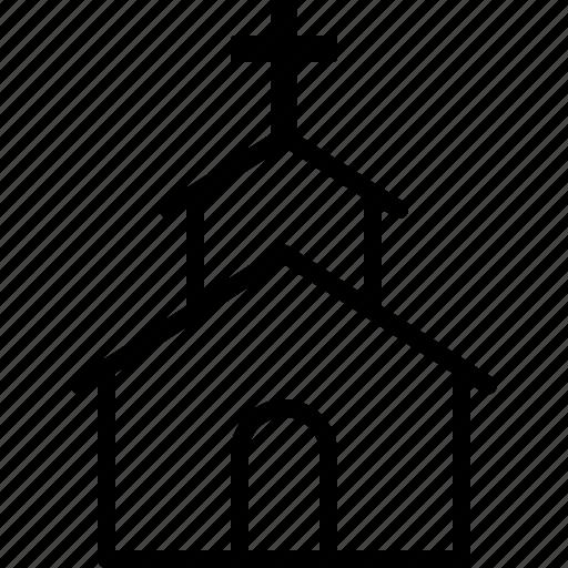 building, catholic, chapel, church, religion, religious, worship icon