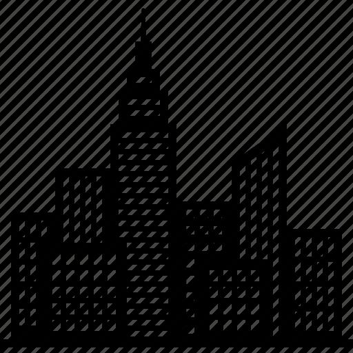 buildings, city, cityscape, downtown, metropolis, skyline, skyscrapers icon