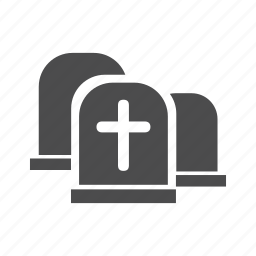 burial ground, cemetery, churchyard, dead, death, grave, graveyard icon