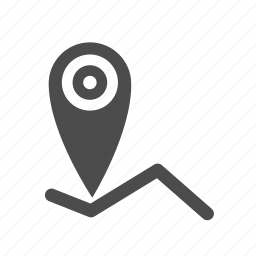 contact, destination, location, map, navigation, pin, travel icon