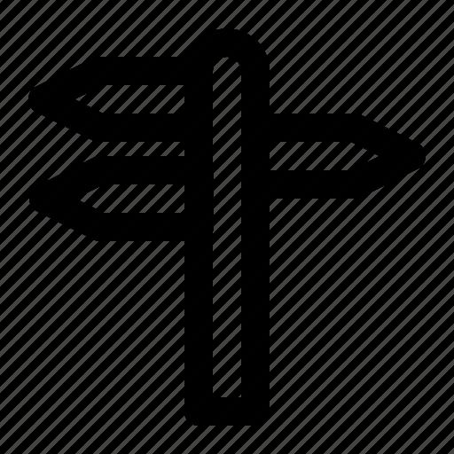 arrow, sign, tour, tourism, travel, trip, way icon
