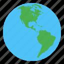 america, earth, globe, world
