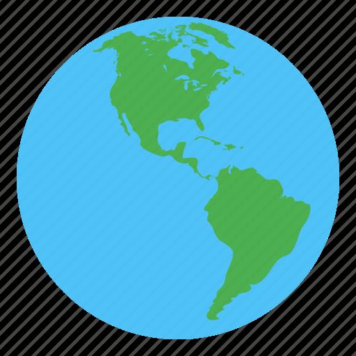 america, earth, globe, world icon