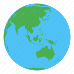 asia, australia, earth, globe icon