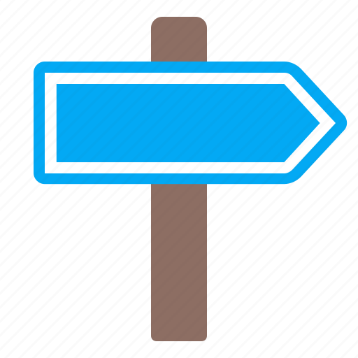 blue, index, right, sign icon