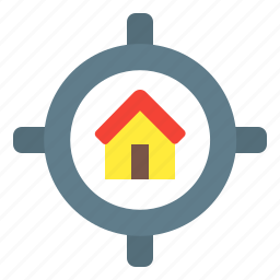 home, house, location, navigation icon