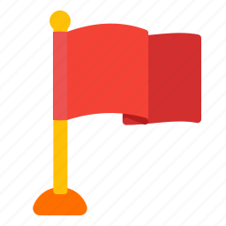 flag, flags, red, route icon