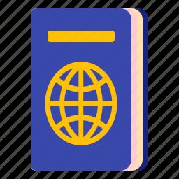 document, identity, passport, travel icon