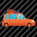 family, business, car, orange, woman, travel