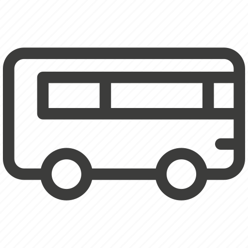 auto, bus, car, passengers, shipping, transport, travel icon