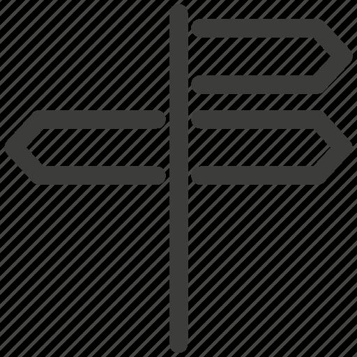 crossroads, direction, landmark, pointers, signs, travel, way icon