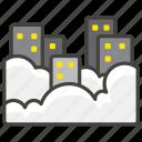 1f301, b, foggy icon