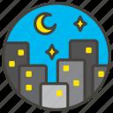 1f303, b, night, stars, with icon