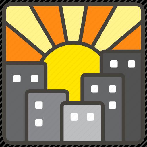 1f307, sunset icon