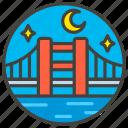 night, at, 1f309, bridge, a icon