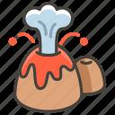 1f30b, volcano icon