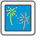 1f386, fireworks icon