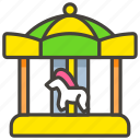 1f3a0, b, carousel, horse icon