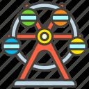 1f3a1, a, ferris, wheel icon