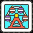 1f3a1, b, ferris, wheel icon
