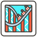 1f3a2, b, coaster, roller icon