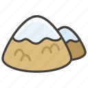 1f3d4, capped, mountain, snow icon