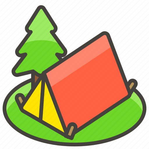 1f3d5, a, camping icon